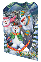 Santoro Snowmen Display Swing Card