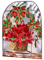 Santoro Poinsettia Display Swing Card
