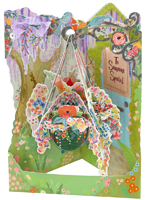 Hanging Basket Display Swing Card