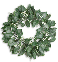 White Floral Mulberry Wreath