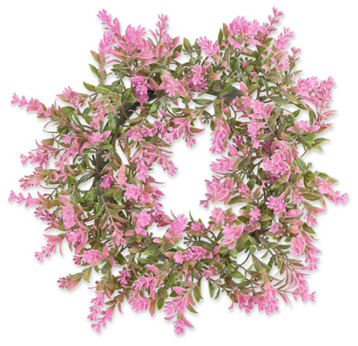 Bushy Pink Flowers Wreath