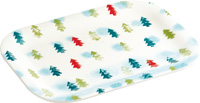 Winter Trees Light Blue Snack Tray