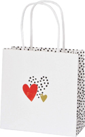Love You Gold Red Gift Bag