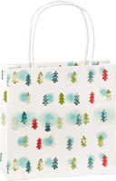 Winter Trees Light Blue Gift Bag
