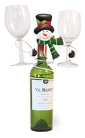 Frosty Snowman Bottle Holder