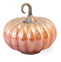 Orange Melon Glass Pumpkin