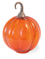 Orange Glass Pumpkin - Large