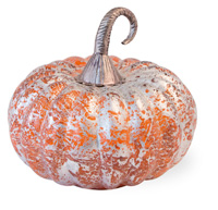 Orange Foil Melon Glass Pumpkin