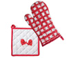 Mittens Red Oven Mitt & Pot Holder Set