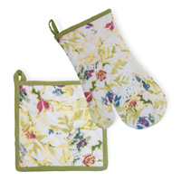 Packed Flowers Oven Mitt & Pot Holder Set