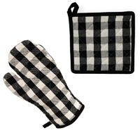 Buffalo Check Oven Mitt & Pot Holder Set