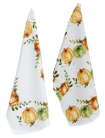 Pumpkin Harvest Tea Towels