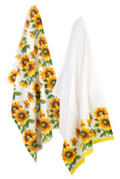 Colourful Sunflowers Tea Towels (Set of 2)