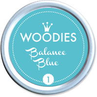 Woodies Ink Pad 1 Balance blue