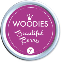 Woodies Ink Pad 7 Beautiful Berry