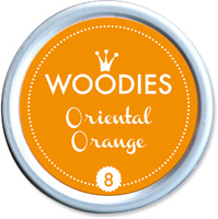 Woodies Ink Pad 8 Oriental Orange