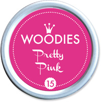 Woodies Ink Pad 15 Pretty Pink