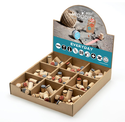 Woodies Everyday Mini Stamp Set with Display