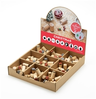 Woodies Christmas Mini Stamp Set with Display