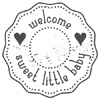 Woodies Welcome sweet little baby Stamp