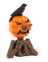 Pumpkin Face Tree Stump LED Light