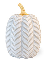 Gray Chevron Pumpkin