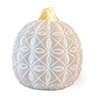 Gray Diamond Flower Pumpkin
