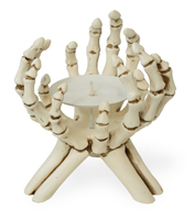 Skeleton Hands Candle Holder
