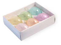 Pastel Crackle Ornaments