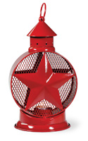 Star Tealight Lantern red