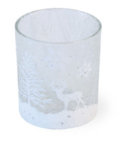 Glitter Forest Tealight Holder