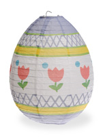 Egg Paper Lantern White Multi Small