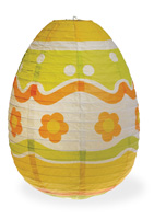 Egg Paper Lantern White Multi Large