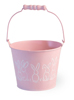 Easter Bunny Pail with handle Pink