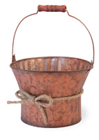 Metallic Copper Pail