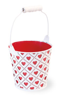 Heart Bucket White