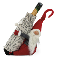Bottle Holder Santa Elf Gnome