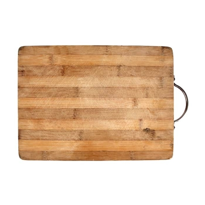 Wooden Cutting Board with Leather Handle Strap