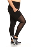 Black Legging Mesh With Pockets