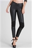 Motorcycle faux leather leggings