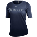 Ladies Navy 3/4 Sleeve Tee