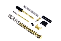 ALPHA TiN G19 Super Duty 9mm Slide Completion Kit w/ TiN Fluted Guide Rod