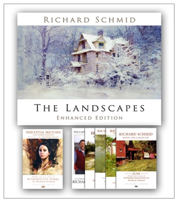 The Landscapes - Enhanced Edition + 2 DVD Set by Richard Schmid