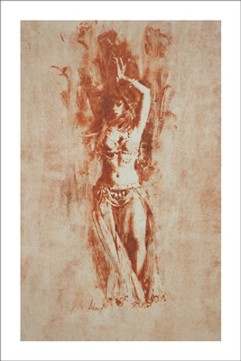 Belly Dancer Lithograph By Richard Schmid