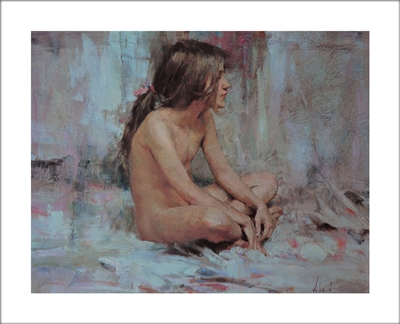 Gretchen At Seven By Richard Schmid