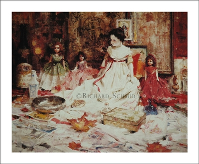 Molly's Dolls Lithograph by Richard Schmid