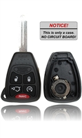 New Key Fob Remote Shell Case For a 2007 Chrysler Aspen w/ Rear Hatch