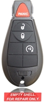 New Key Fob Remote Shell Case For a 2009 Dodge Challenger w/ 4 Buttons