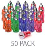 (50-pack) Atomic Micro 1.0a 5w Single Port Usb Car Charger(assorted Colors)