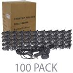 "(100-pack) 46"""" Stereo Earbuds W/3.5mm Plug (black)"
